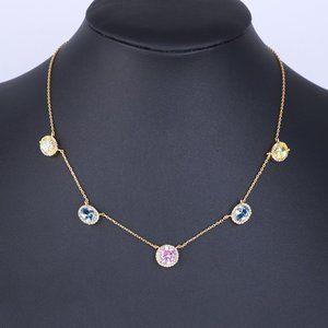Henri Bendel Colorful Zircon Short Necklace